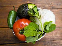 Guacamole made with papalo(!), avocado, jalepeno, tomato and onion #food #summer