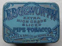 Edgeworth Pipe Tobacco. Beautiful Typography Vintage Fonts, Vintage Type, Vintage Typography, Vintage Labels, Vintage Box, Vintage Packaging, Packaging Design, Label Design, Type Design
