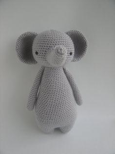 Olifant  amigurumi haakpatroon van LittleBearCrochets op Etsy