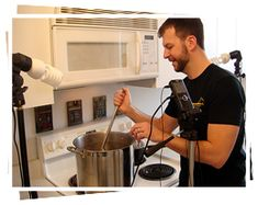 This guy has a ton of great home brewing videos! For beginners up to experts. Extract, Partial Mash and All-Grain... plus beer bread! #homebrewingforbeginners