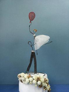 Hochzeitstorte Topper Figur kundenspezifische Kuchen-Deckel
