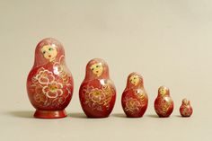 "5 Piece ""Vyatskaya Matryoshka"" Bee, number 11070 - 650 пчелка"