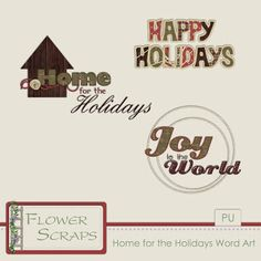Visit my Free Kits Directory. Holiday Words, Love Tag, Digital Scrapbooking Freebies, Scrapbook Supplies, Word Art, Scrapbooks, Happy Holidays, Crafting, Printables