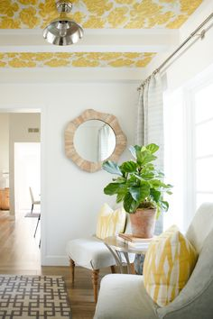 Bold statement pieces: http://www.stylemepretty.com/living/2016/04/28/8-genius-solutions-for-small-space-design-dilemmas/