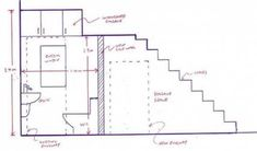 Planning A Downstairs Toilet Under The Stairs With Bathroom Installation In Leed. Planning A Downstairs Toilet Under The Stairs With Bathroom Installation In Leed. Downstairs Cloakroom, Downstairs Toilet, Basement Bathroom, Stair Dimensions, Bathroom Dimensions, Plan Wc, Understairs Toilet, Understairs Ideas, Toilet Plan