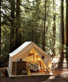 Time to go glamping...or just camping, I'm down for either one!