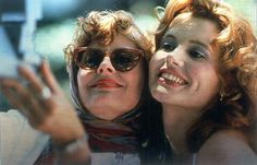 'Thelma & Louise' - This glorious 1991 film stars Geena Davis and Susan Sarandon as two best friends whose road trip takes an unexpectedly perilous turn. Be sure to keep an eye out for a young Brad Pitt, whose career was launched by the film. Thelma Louise, Susan Sarandon, Geena Davis, 10 Film, Iconic Movies, Old Movies, 1990s Movies, Iconic Movie Characters, Women Characters