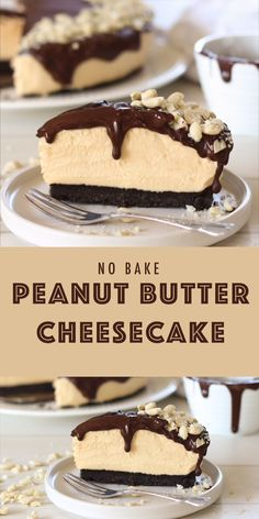 No Bake Desserts, Easy Desserts, Delicious Desserts, Yummy Food, Irish Desserts, Best Easy Dessert Recipes, Chocolate Peanut Butter Cheesecake, Chocolate Desserts, No Bake Chocolate Cheesecake