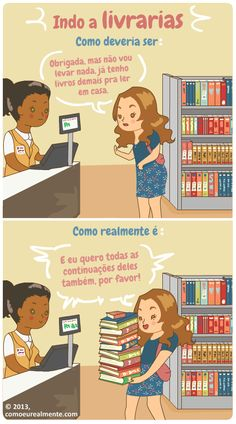 Não existem limites para um leitor voraz - Tirinha produzida pela artista brasileira Fernanda Nia. Clique aqui para conhecer o site dela. (Foto: Reprodução)