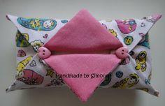 Handmade by Simone: Porta-lenços de tecido - passo a passo (PAP)