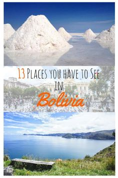 You want to travel to Bolivia? Here are 13 places you shouldn`t miss out on. Bolivia is simply stunning with it`s beautiful mountains, incredible national parks and interesting culture. Some Must-See places are the Salar de Uyuni, Sucre or La Paz but ther
