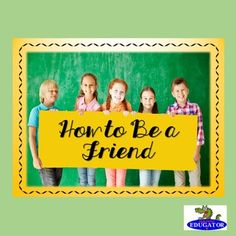 How to Be a Friend - Friends Are Gold Poster Set. Spell out the Acronym Friends…