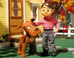Davey and Goliath.  I used to watch this all the time when I was little.  I love the dog.