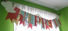 Birthday banner using Stampin Up MDS SVG files and silhouette cameo