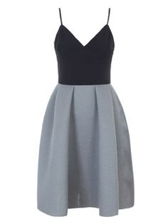 Shop Color Block Cami Skater Dress from choies.com .Free shipping Worldwide.