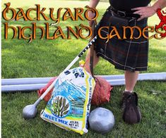 Backyard Highland Games - I was recently tasked with coming up with a fun family activity that was different than what has be - Summer Camp Games, Fun Games, Party Games, Games For Kids, Camping Games, Medieval Games, Medieval Party, Family Reunion Games, Family Games