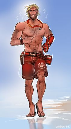 """kyotemeru-arts: """"Lifeguard on Duty """" <<< every time i see this i die of laughter"""