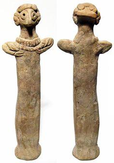 Syrio-Hittite votive sculpture of the goddess Astarte. Northern Syria, c. 2100-1600 BC.