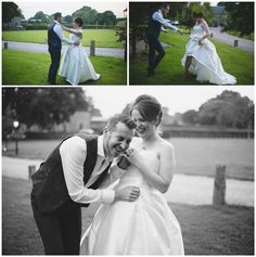 husband and wife laughing as they rehearse their first dance outside Ribbon Bouquet, Summer Wedding Colors, Floral Ribbon, First Dance, Laughing, Wedding Styles