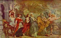 Fuite de Loth Musée du louvre, Paris Pierre Paul Rubens
