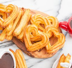 Baked Churros with Chocolate | Kirbie's Cravings.  Yes easy 5 ingredient baked churros! Easy to bake and shape into cute shapes compared to frying.