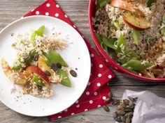 Bohnen-Reis-Salat - mit Nektarinen und Kürbiskernen - smarter - Kalorien: 435 Kcal - Zeit: 30 Min.   eatsmarter.de