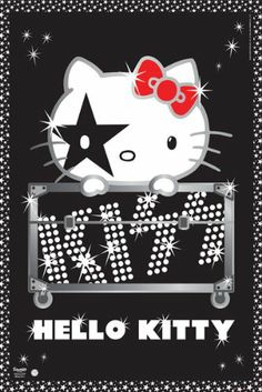 Hello kitty-kiss poster 24 x best price band wallpapers, cute wallpapers, Sanrio Hello Kitty, Hello Kitty Art, Hello Hello, Hello Kitty Backgrounds, Hello Kitty Wallpaper, Band Wallpapers, Cute Wallpapers, Hello Kitty Pictures, Little Twin Stars