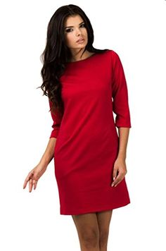 Berry Womens Viscose Tunic Dress With Pockets 8 Red -- Click on the image for additional details.(This is an Amazon affiliate link and I receive a commission for the sales)