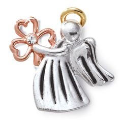 "Irish Angel Pin  May this Irish angel protect you each day and may its special shamrock bless you in every way. 1"" tall.  Adorn your favorite sweaters, jackets, capes or outerwear with this Irish guardian angel pin today!  #Irish #IrishGifts #Ireland"