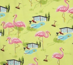 Nick & Nora Flamingo Poolside Sheets