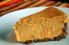 Sugar Free Pumpkin Cheesecake. The best cheesecake you ever tasted that just happens to be sugar free! Delicious creamy pumpkin spiced filling with a nut crust that is off the charts. TRY IT! http://www.bariatriceating.com/2011/11/19/pumpkin-ginger-cheesecake-low-or-no-added-sugar/