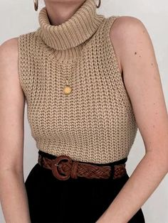 Vest Outfits, Casual Outfits, Fashion Outfits, Crochet Woman, Crochet Fashion, Crochet Clothes, Pulls, Ideias Fashion, Models