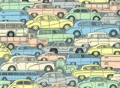 Chor A3.3, Papiercollage aus bedrucktem Farbpapier von Klaus Becker ...