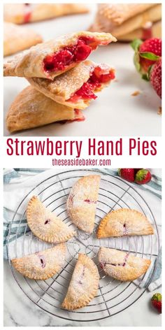 Strawberry hand pies are crispy and flaky from the outside and sweet and creamy on … – Strawberry Recipes – # on # outside # crispy Strawberry Hand Pies, Fresh Strawberry Recipes, Strawberry Desserts, Köstliche Desserts, Apple Hand Pies, Fruit Hand Pies, Canned Strawberries, Empanadas, Tostadas