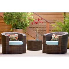 Have to have it. Outback Company Kuan All-Weather Wicker Conversation Set $2520.99