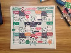 Birthday Calendar using A Year To Remember Scrapbooking Collection #creativememories #scrapbooking #birthday #calendar www.creativememories.com