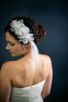 Blossoms by Katie Burley Millinery, $275.00 Completely handmade silk organza blossoms.