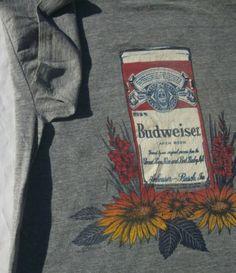 Vintage 1972 Hi Cru Budweiser T Shirt Cool Hippie Graphics L | eBay