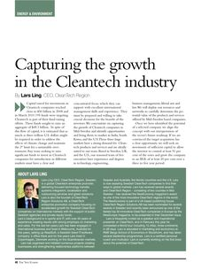 Capturing the CleanTECH industry Good Environment, Business Management, Sustainability, Investing