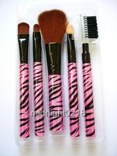 A set of 5 pcs pink zebra print h-quality makeup brush Victoria Secret Makeup, Pink Zebra, Face Hair, Beauty Hacks, Beauty Tips, Zebra Print, Cute Nails, Makeup Brushes, Hair Makeup