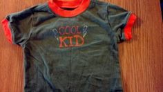 "Mommy Market - 'cool kid' t-shirt - Is your little one a ""cool kid""? Let the world know with this super fun shirt from Florida!"