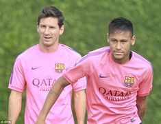 Lionel Messi (left) and Neymar are fit for Barcelona's La Liga match against Athletic Bilbao - So GLAD to hear!