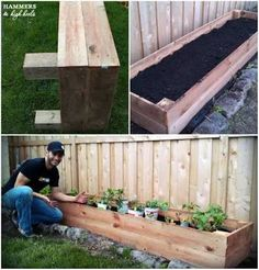 how to make a raised garden bed along a fence - Google Search