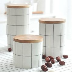 Nordic Jars For Storage In The Kitchen Storage Box Sealing Food Container Spice Storage Boxes Jars For Spices Slimes Ceramic Can Spice Storage, Jar Storage, Food Storage, Kitchen Storage Containers, Food Containers, Sugar Container, Coffee Container, Flour Container, Kitchen Canisters