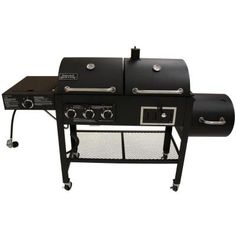 Smoke Hollow Triple Function Propane Gas/Charcoal Grill and Smoker-3500 at The Home Depot