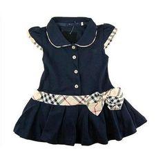 Crianças atacado varejo / Girls Marca Vestidos Crianças Princess Dress Verão algodão infantil / Vestido Polo Bebê adolescente Frete Grátis