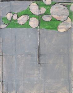 RICHARD DIEBENKORN Untitled, 1980 Acrylic and charcoal on paper 22 2/5 × 17 2/5 in 56.8 × 44.1 cm
