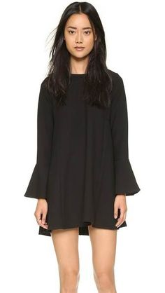The bell sleeves on this black dress make it anything, but ordinary. This is an instant update to your classic lbd.