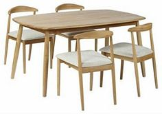 TOTEM Malmo Fixed Top Dining Table & 4 Chairs