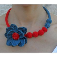 crochet necklace, choker, flower, beads, spring summer, jewelry,... ($29) ❤ liked on Polyvore featuring jewelry, necklaces, beaded choker necklace, statement necklace, flower choker, crochet flower necklace and flower statement necklace